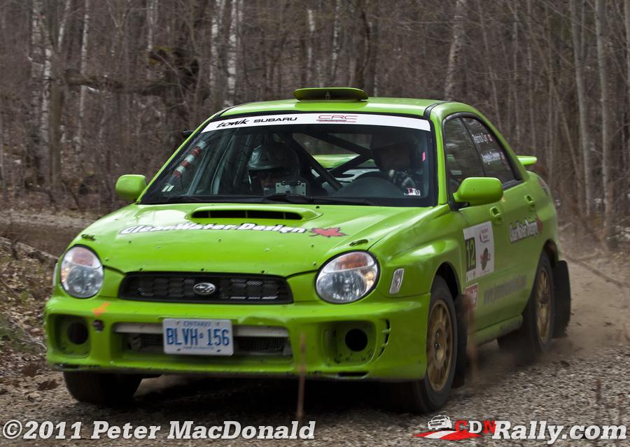 Car 12 Patrick Cyr Angela Cosner Subaru Lanark